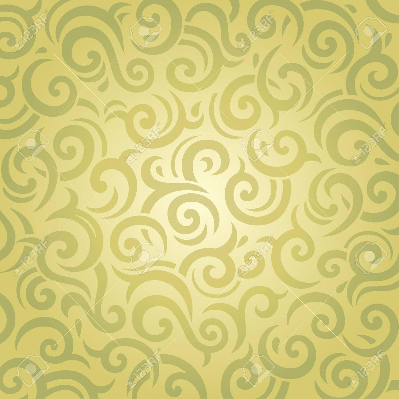 Green Vintage Retro Decorative Wallpaper Vector Design Royalty Free ...