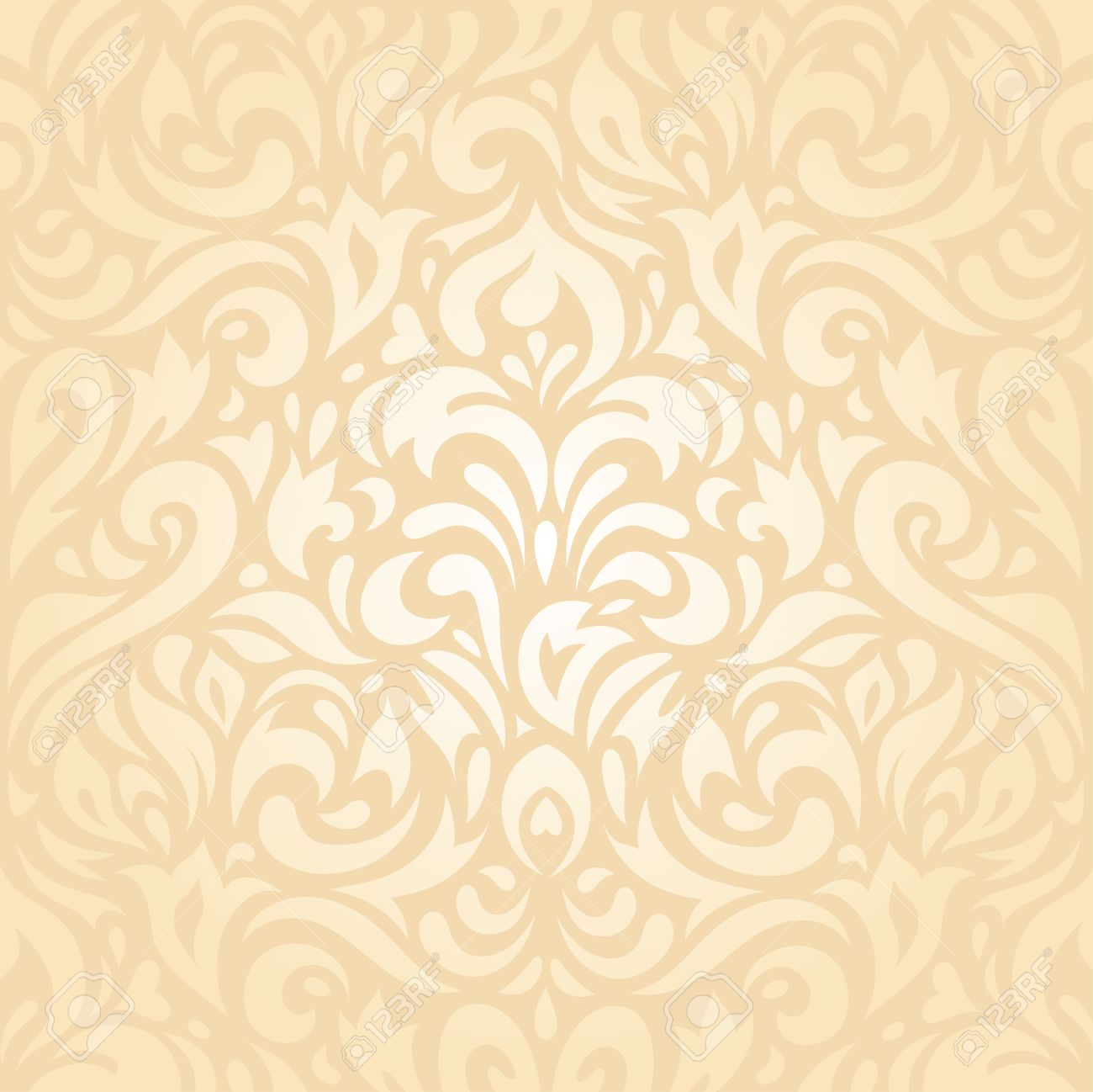 Decorative Wallpaper Design Stock