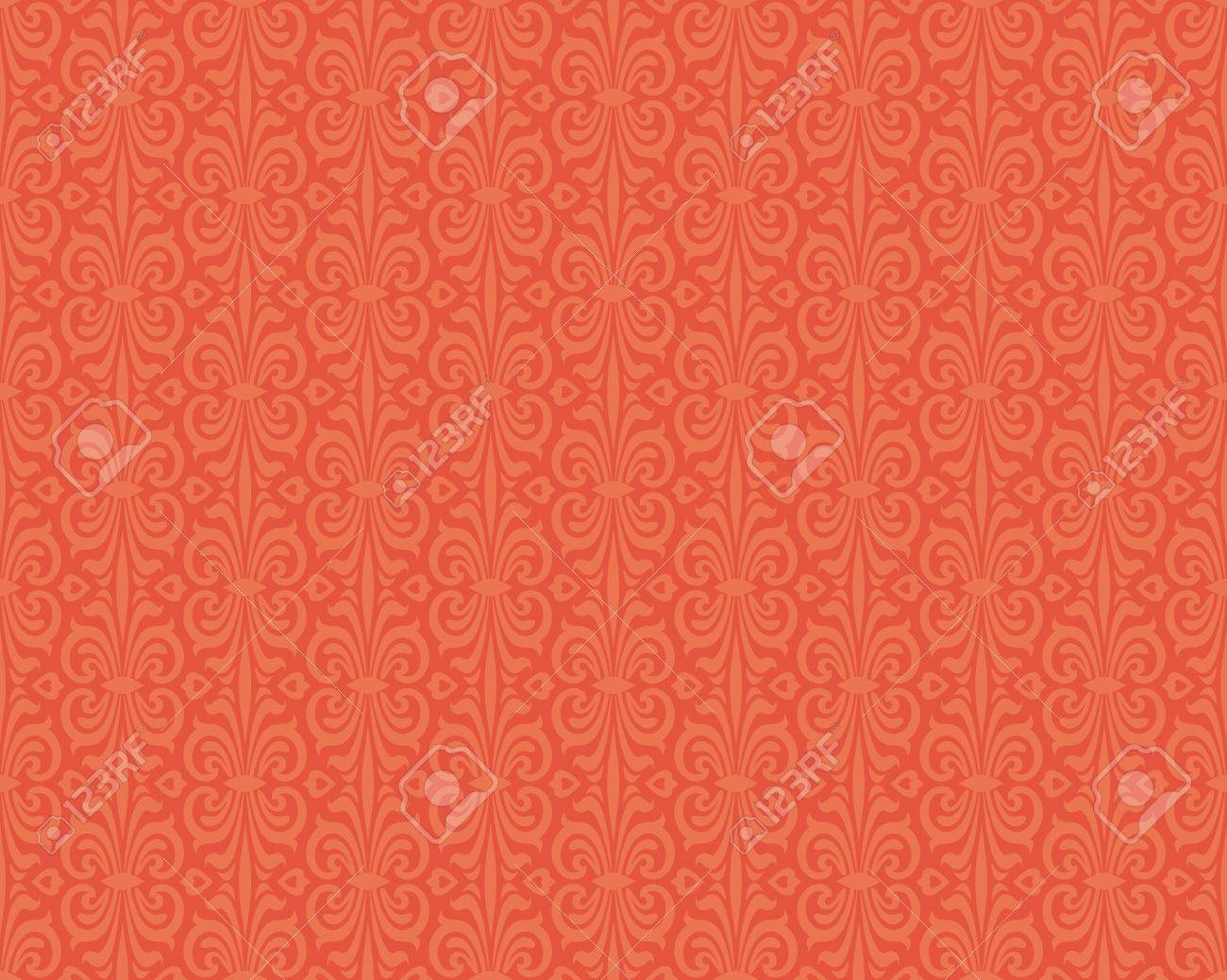 Orange Papier Peint Vintage Conception De Motif De Fond Colore De