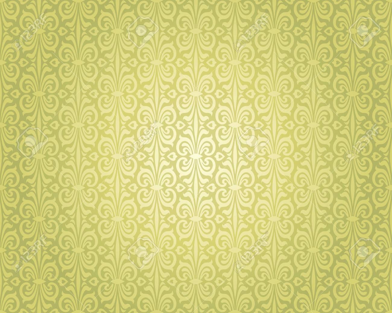 Vert Papier Peint Vintage Motif De Conception De Fond Repetitif Clip