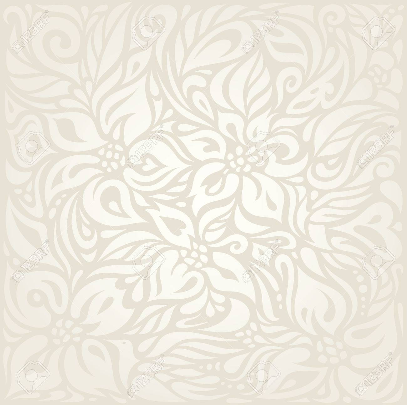 Wedding Floral Pale Wallpaper Pattern Design Background Royalty