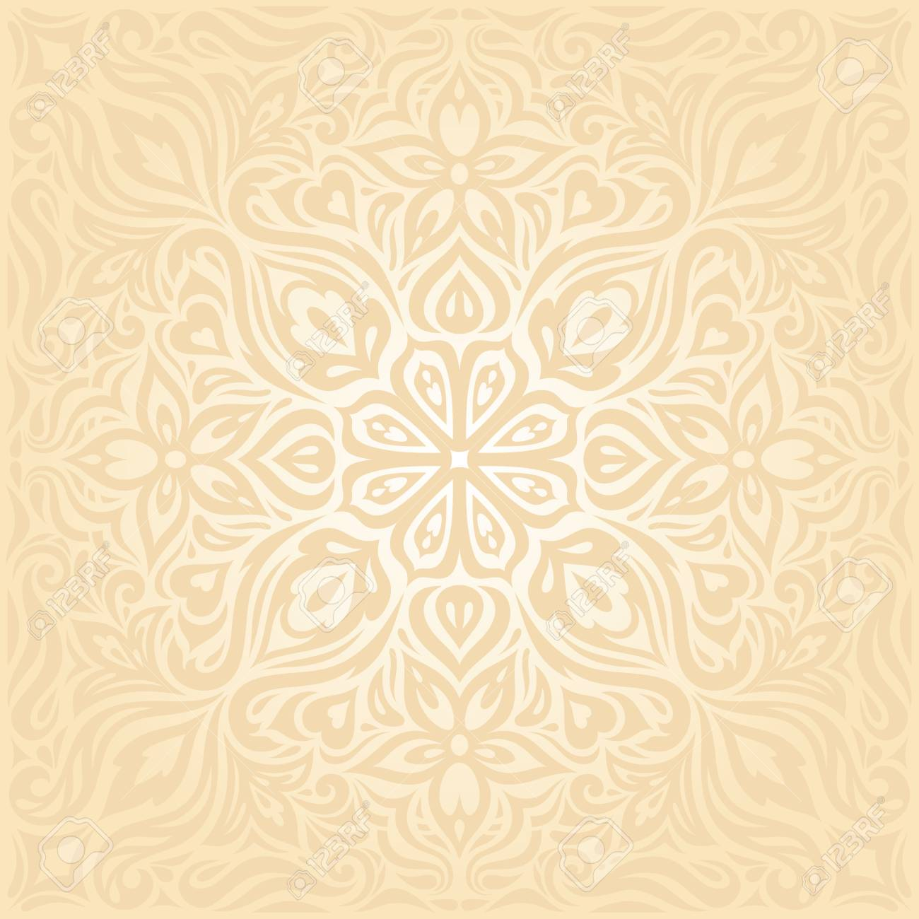 floral retro wedding pale peach wedding background mandala design royalty free cliparts vectors and stock illustration image 107452301 floral retro wedding pale peach wedding background mandala design