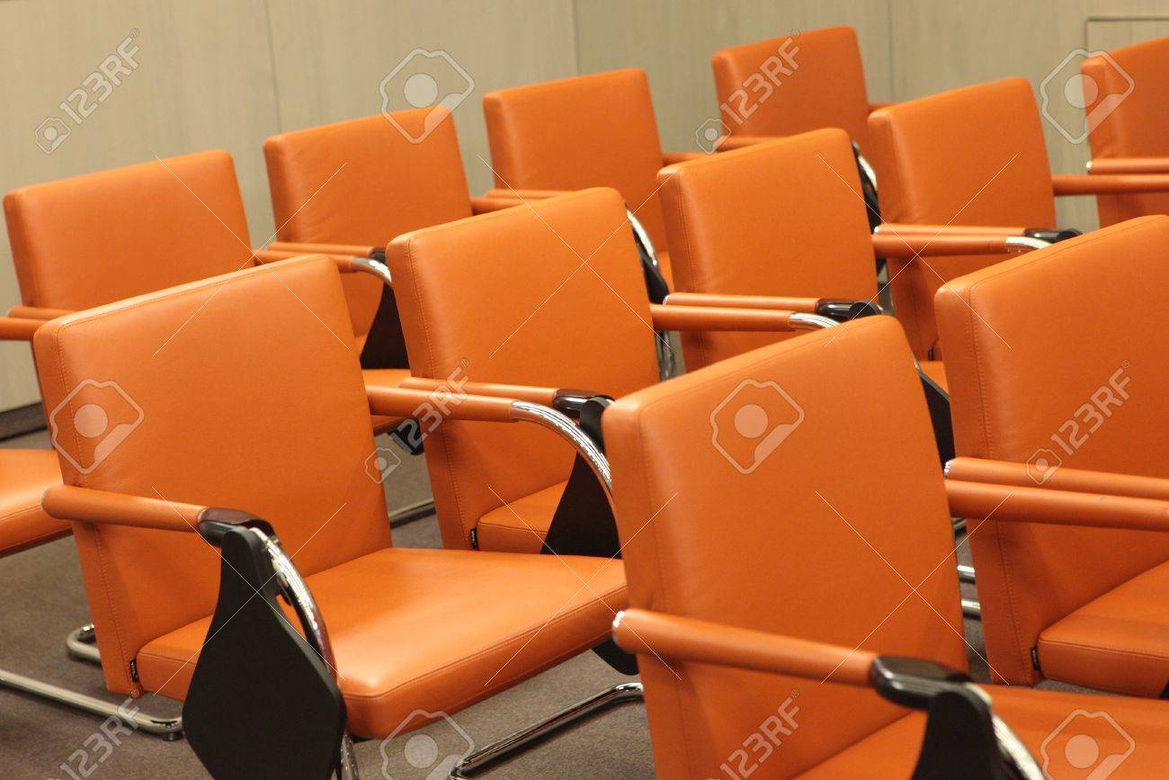 Rows of chairs in conference hall Stock Photo - 14958598