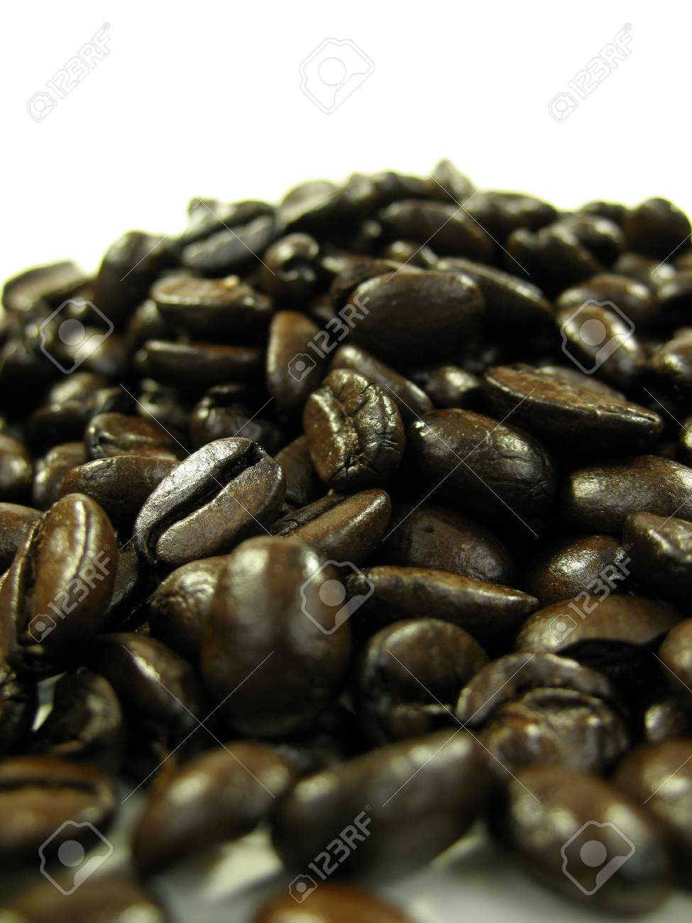 Close up of coffee beans on white Stock Photo - 753901