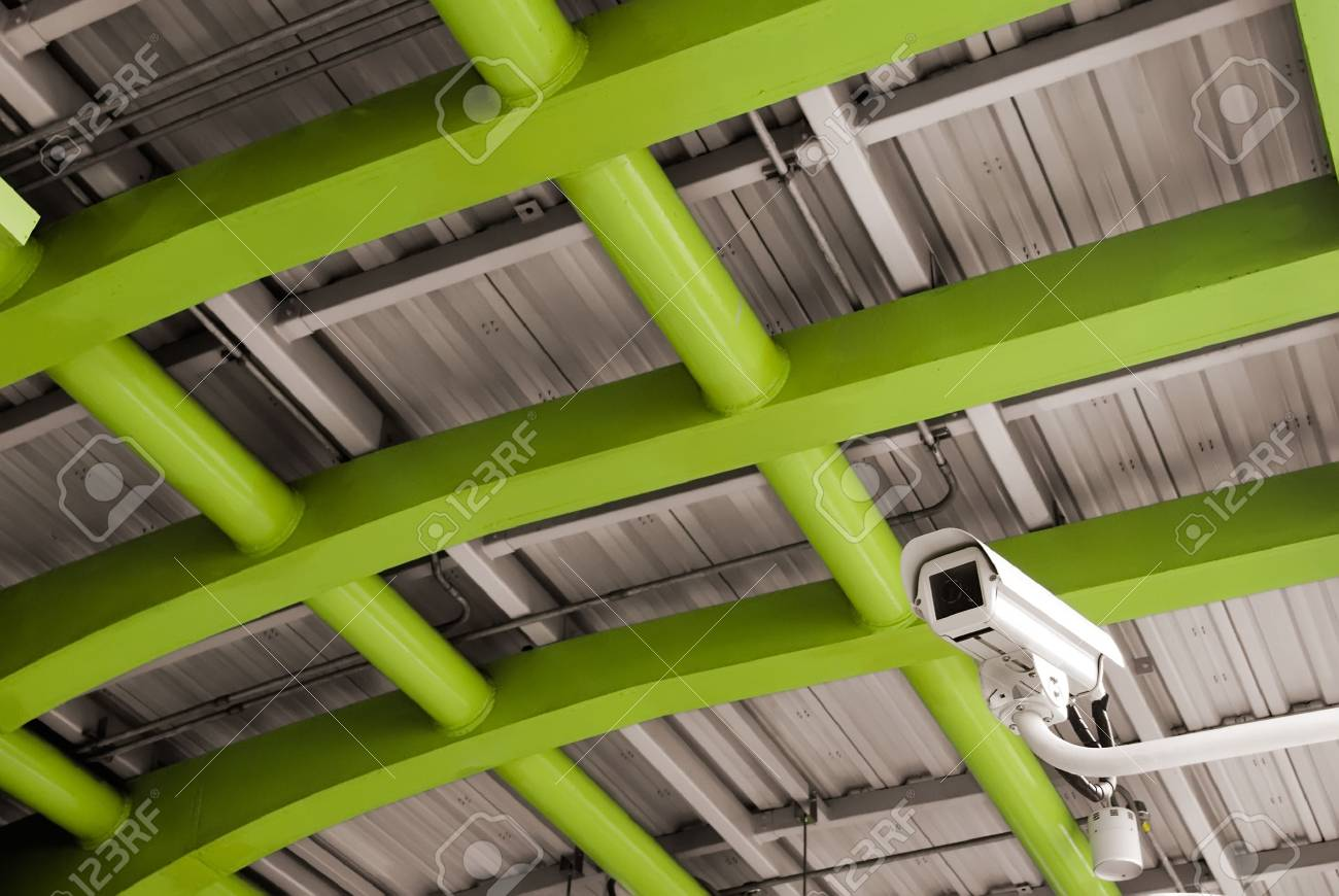 It is a security camera in the public place. Stock Photo - 5320513