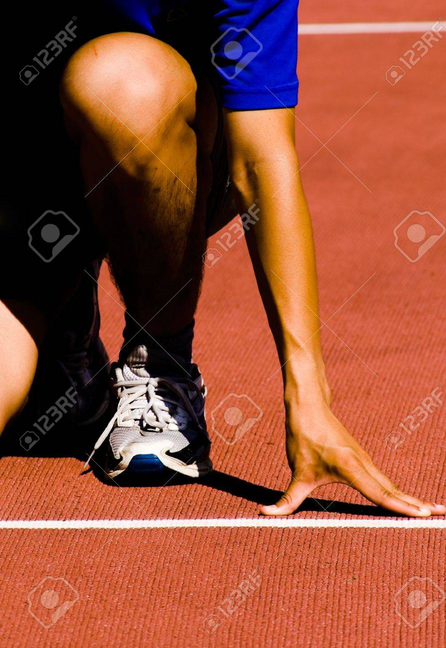 It was a sportsman lined up getting ready for race. Stock Photo - 5473722