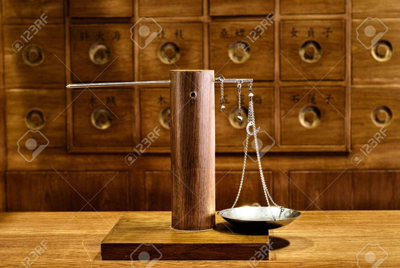 Old traditional Chinese medicine tool in pharmacy. Stock Photo - 6636932
