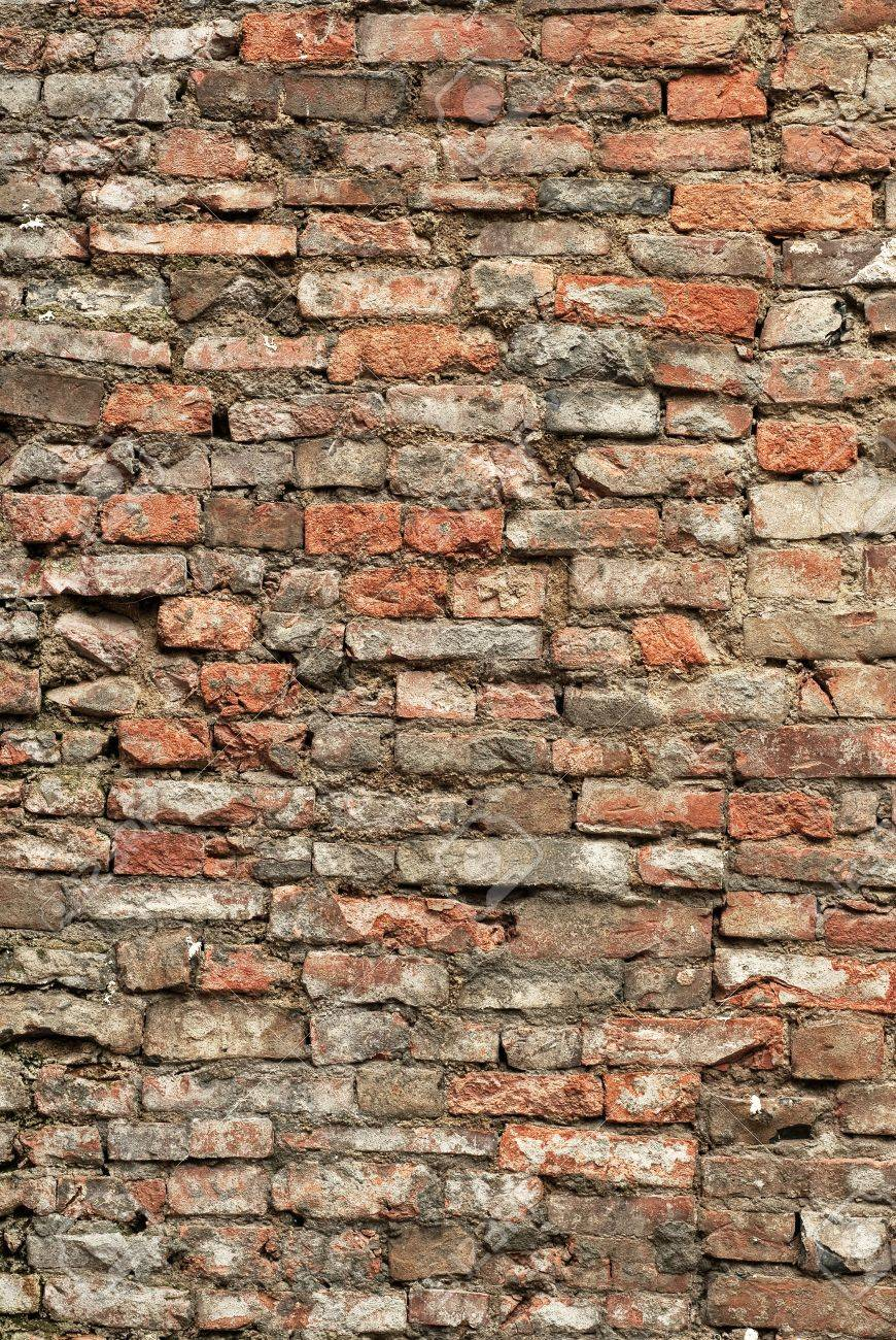 Background of brick old wall with red and yellow color. Stock Photo - 6784148