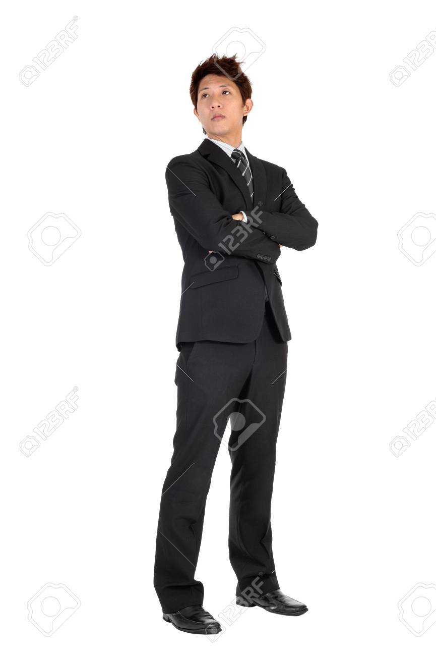 Young executive of Asian, full length portrait isolated on white. Stock Photo - 8068581