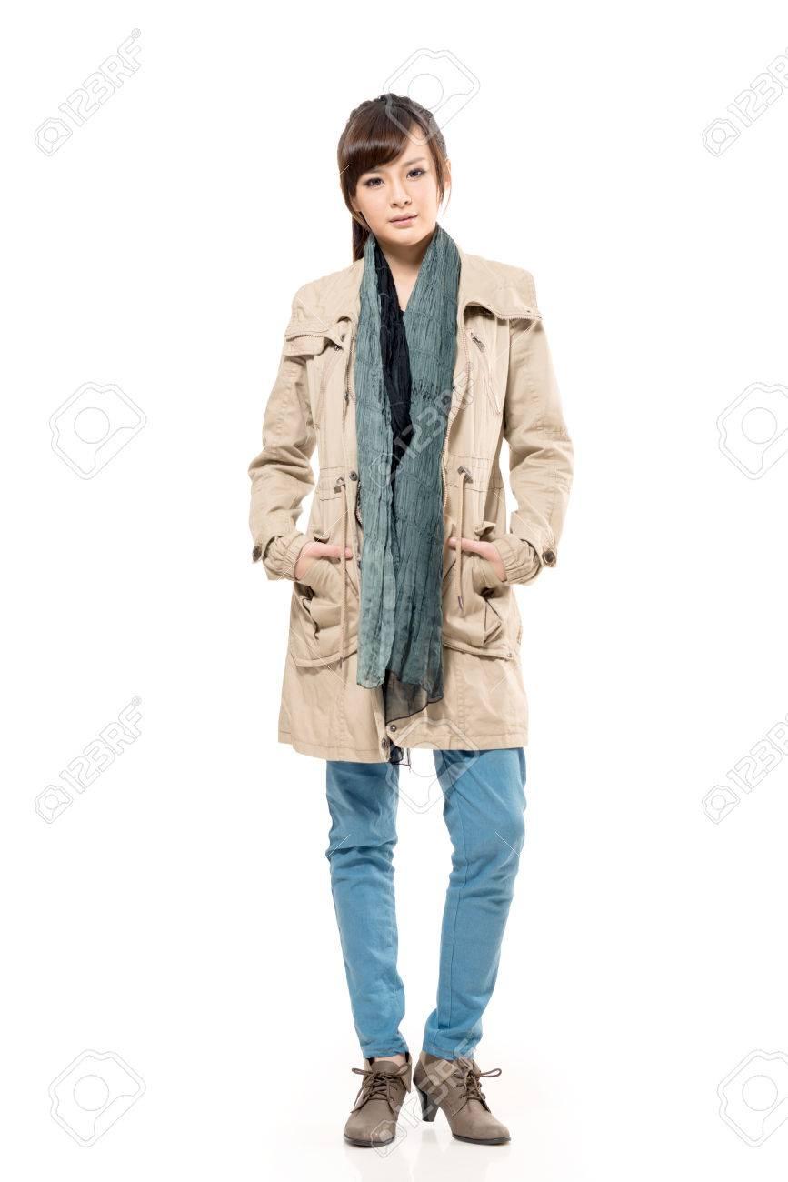 Del Bufanda Otoño Asiática Mujer La De Y Joven Vestido Abrigo La xq1YwgSv