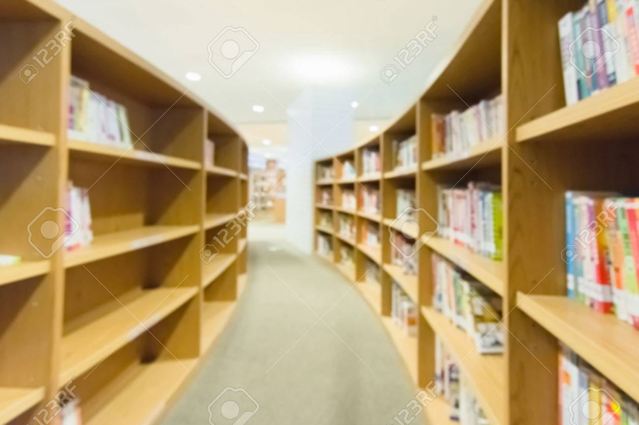 library bookshelves abstract and blurred background stock photo 35833911 - Library Bookshelves
