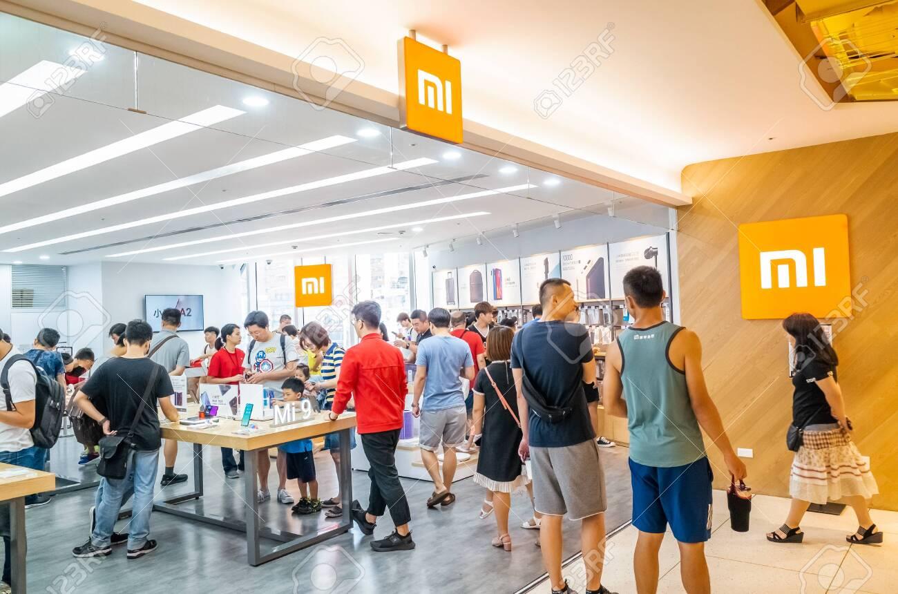 Taipei, Taiwan - August 17th, 2019: famous electronic branding of Xiaomi store in Taipei, Taiwan, Asia - 139428630