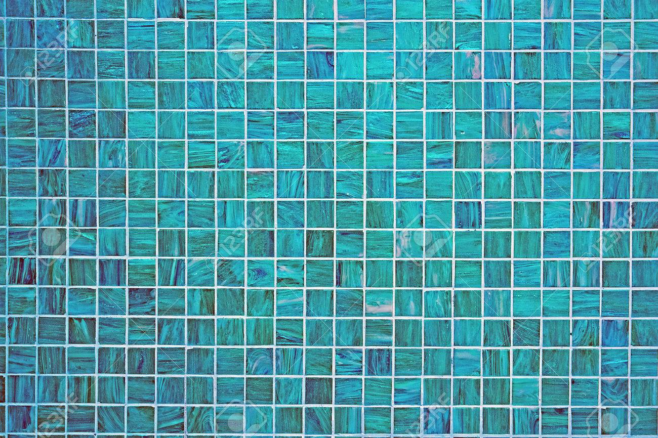 A Blue Square Tiled Background With Small Mosaic Tiles Stock Photo ...