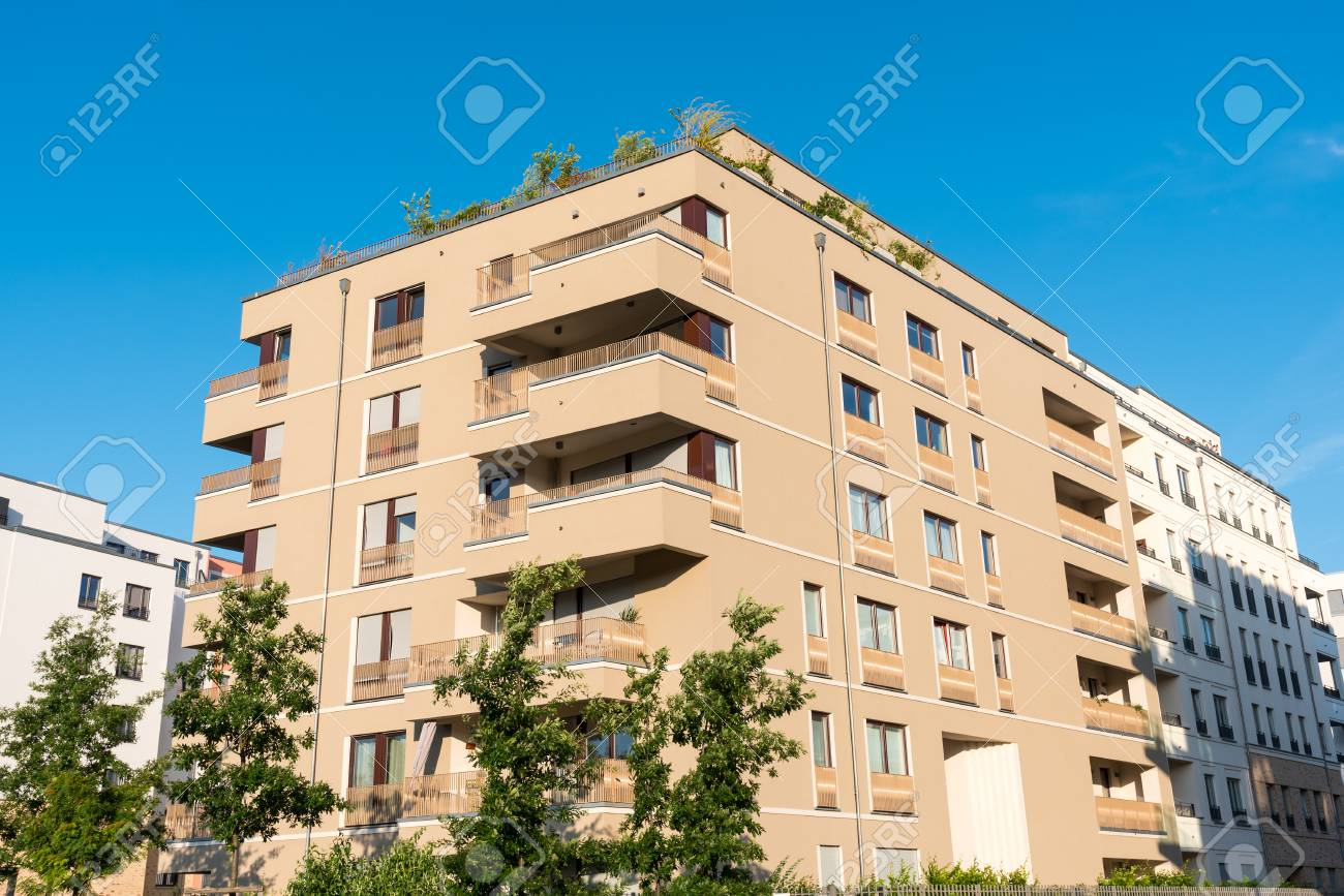 Townhouse Berlin modern brown townhouse seen in berlin germany stock photo picture
