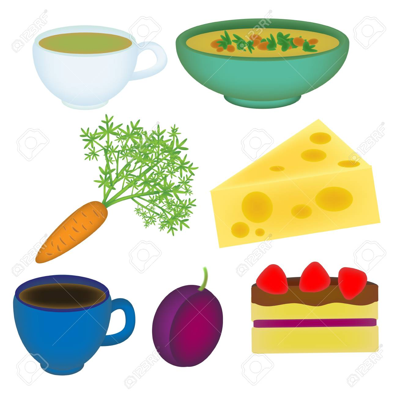 Set of food icons Stock Vector - 13359502