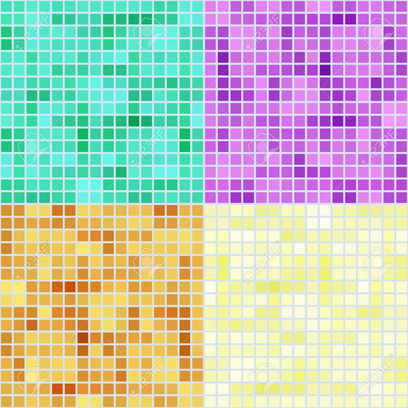 Set of four colored mosaic backgrounds Stock Vector - 14170918