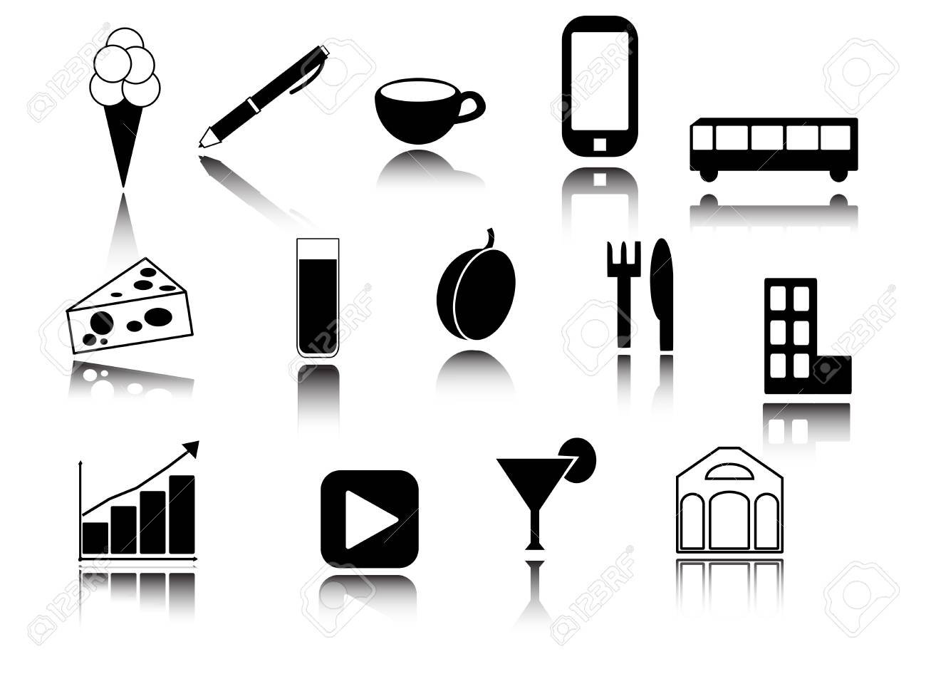 Icons collection Stock Vector - 16122584