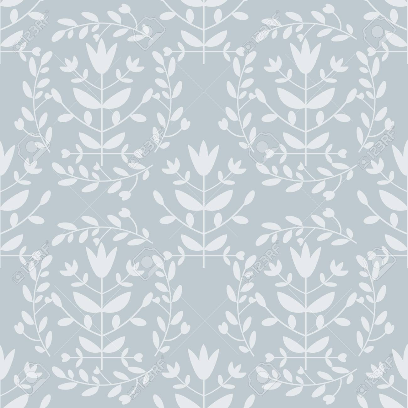 Seamless floral pattern light blue Stock Vector - 16122608
