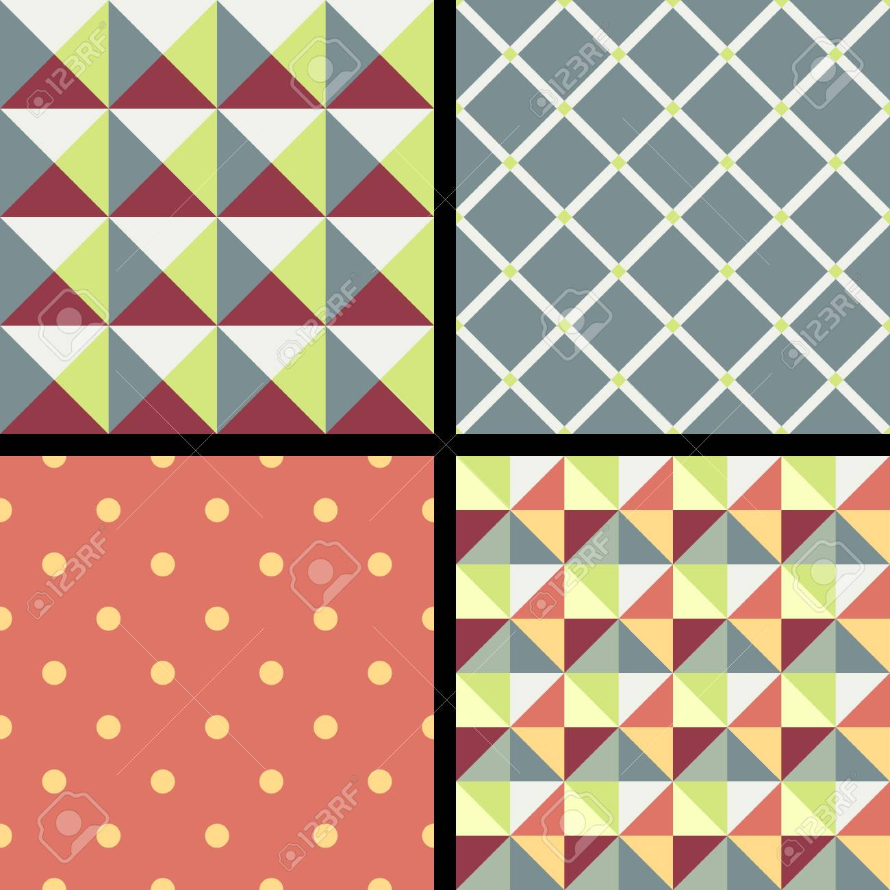 Set of geometric patterns with ornament Stock Vector - 16854685