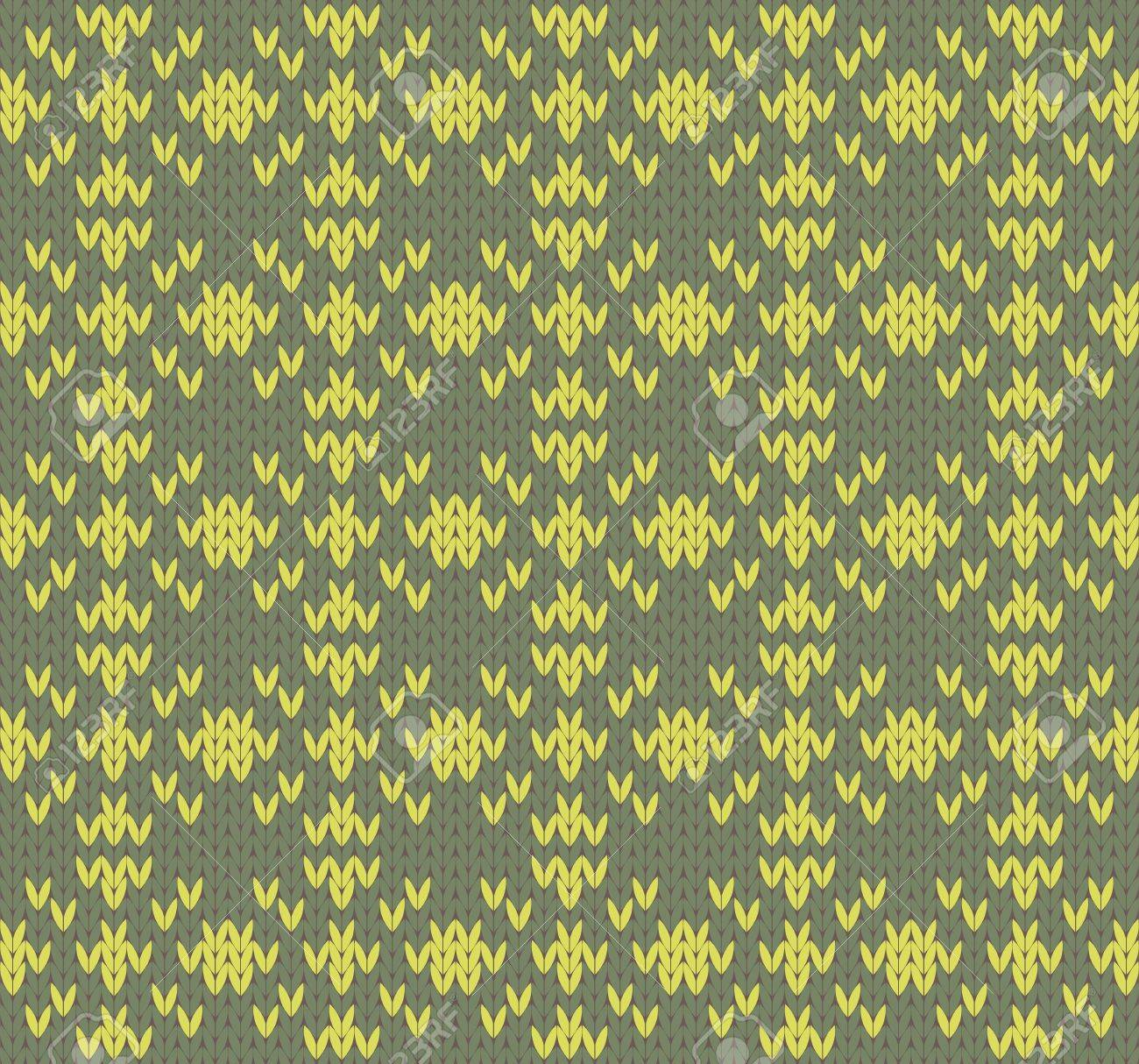 Seamless knit pattern imitation ethnic style Stock Vector - 17088419