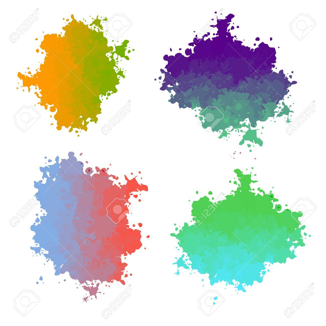 vector paint drops with color color transition royalty free