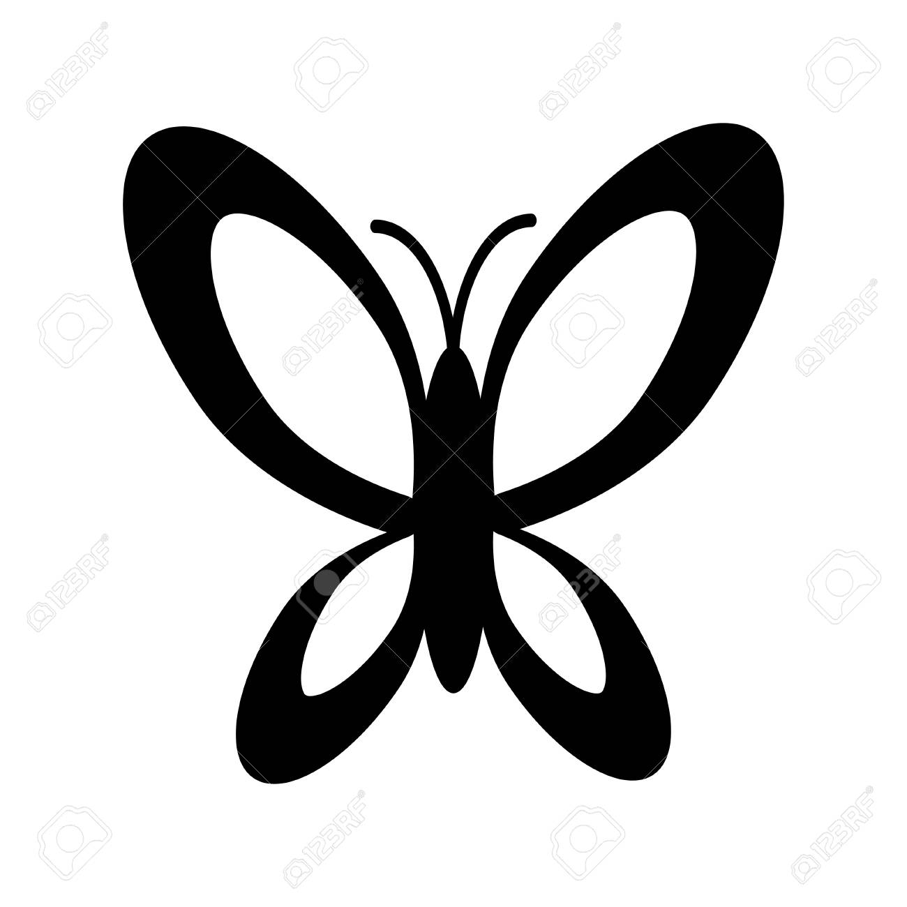 simple black and white butterfly icon royalty free cliparts vectors rh 123rf com Bottle Cap Clip Art Black and White Simple Bottle Cap Clip Art Black and White Simple