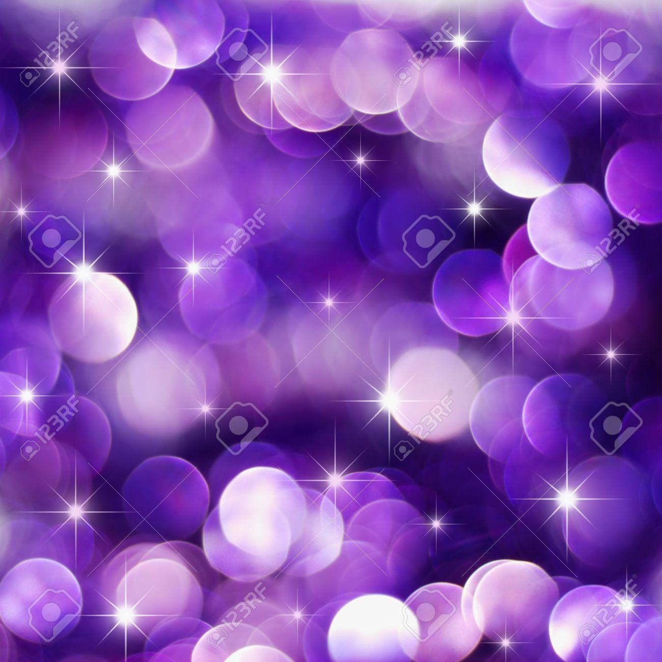 Christmas deep purple lights background with little stars Stock Photo - 5432670
