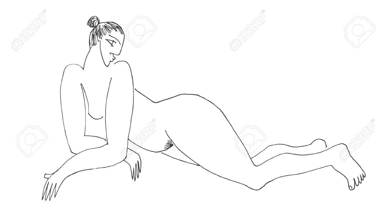 frau gezeichnet nackt