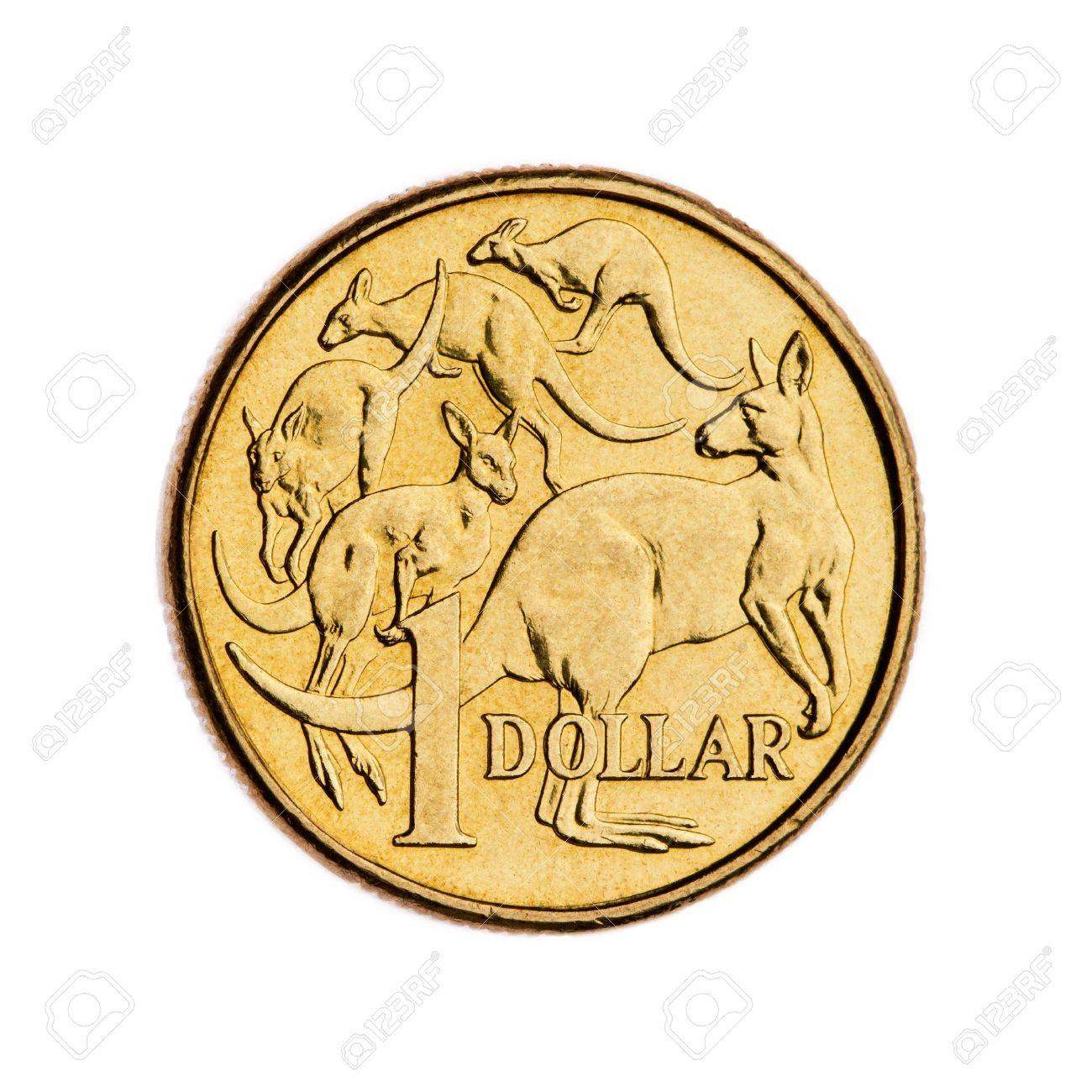 Australian 1 Dollar Münze Lizenzfreie Fotos Bilder Und Stock