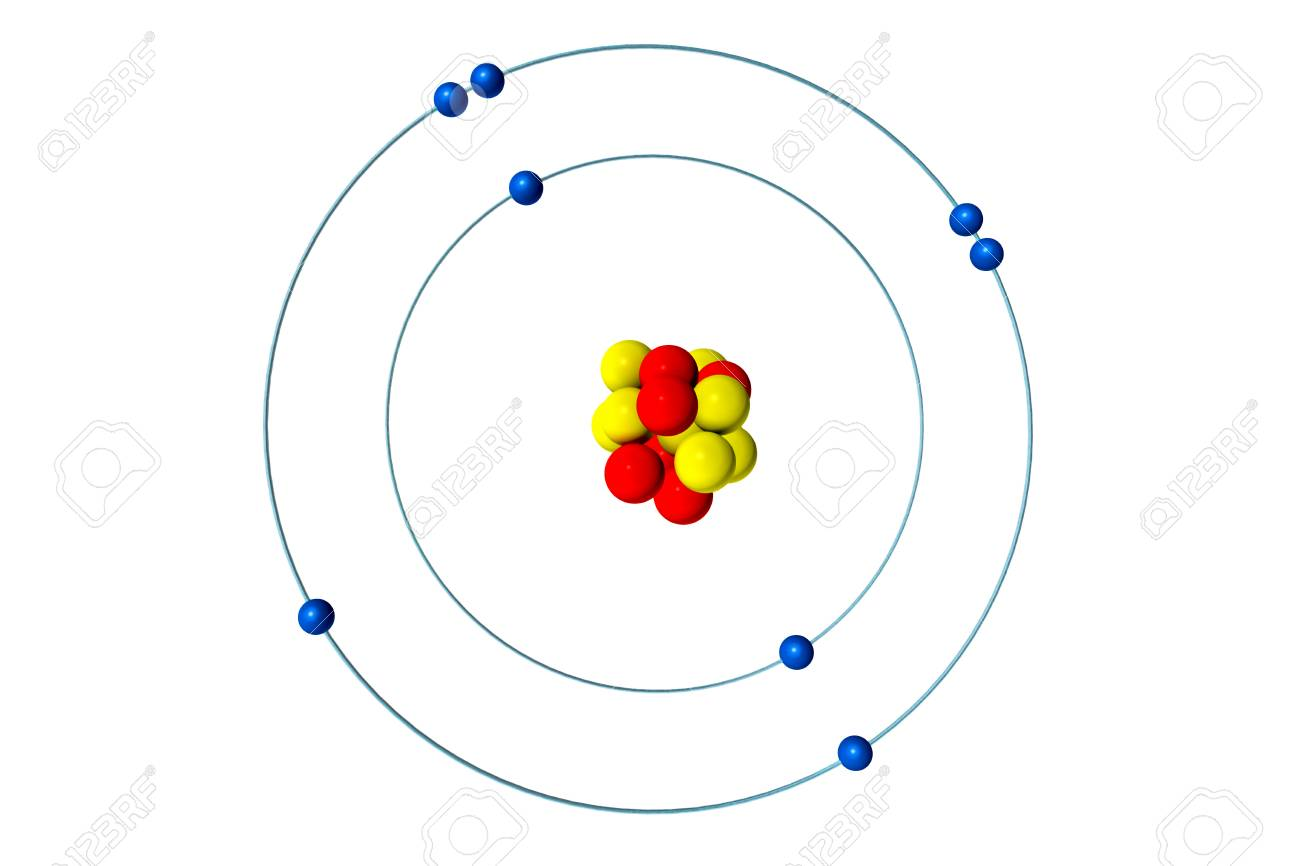 Oxygen atom with proton neutron and electron 3d bohr model stock illustration oxygen atom with proton neutron and electron 3d bohr model illustration publicscrutiny Gallery