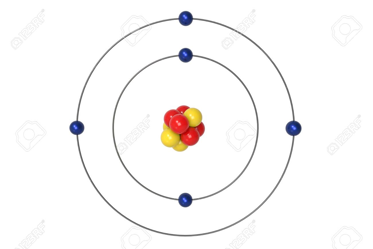 96624476 boron atom bohr model with proton neutron and electron 3d illustration boron atom diagram wiring diagram schematic name