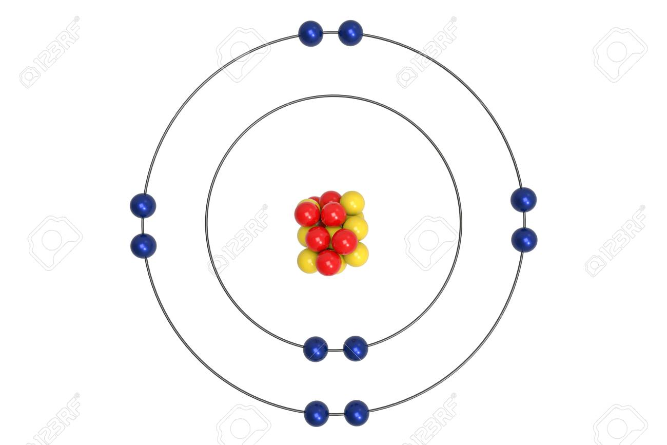 Bohr diagram for neon residential electrical symbols neon atom bohr model with proton neutron and electron 3d rh 123rf com bohr rutherford diagram ccuart Image collections