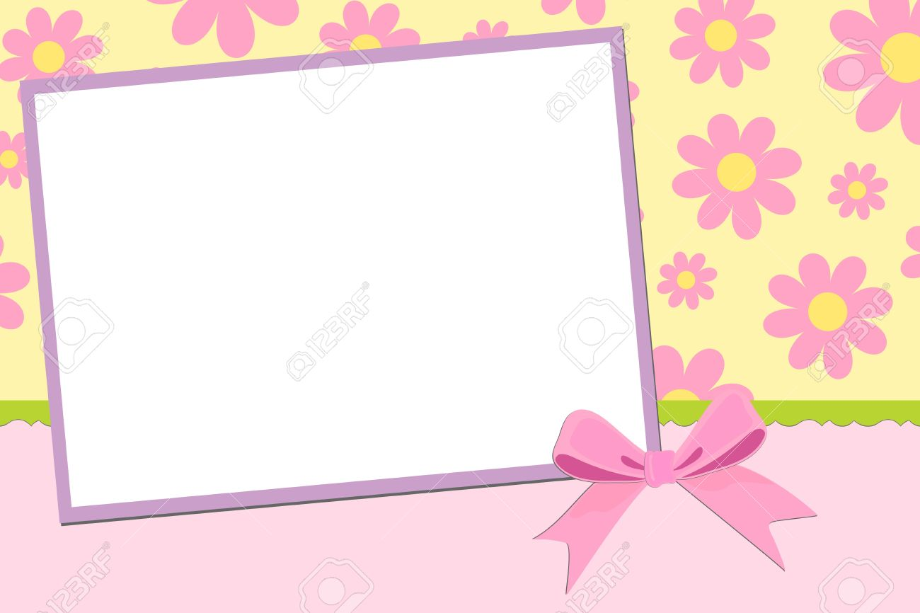 Blank Template For Greetings Card Postcard Or Photo Frame Royalty