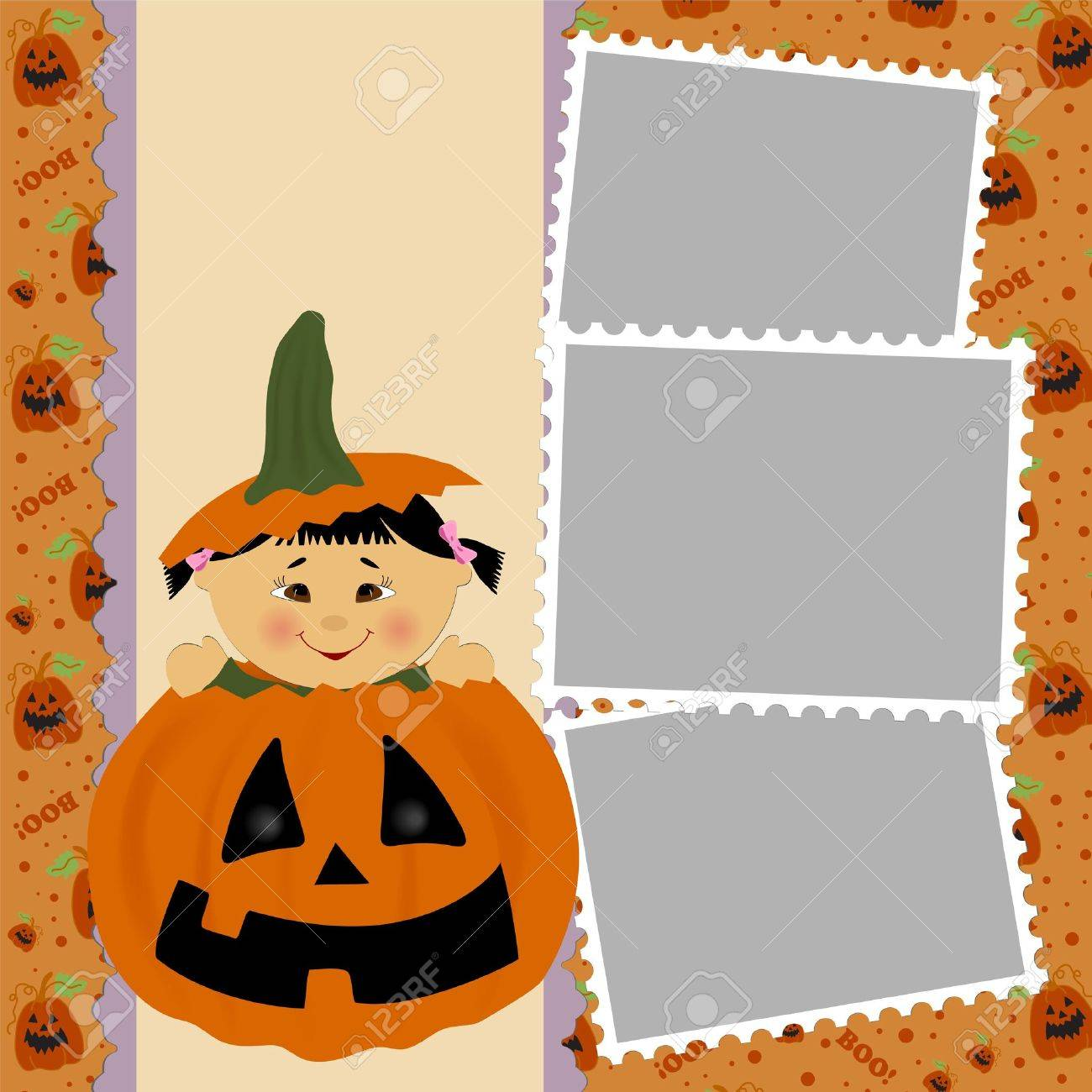 Blank template for halloween photo frame greetings card or blank template for halloween photo frame greetings card or postcard stock vector 8181070 kristyandbryce Images