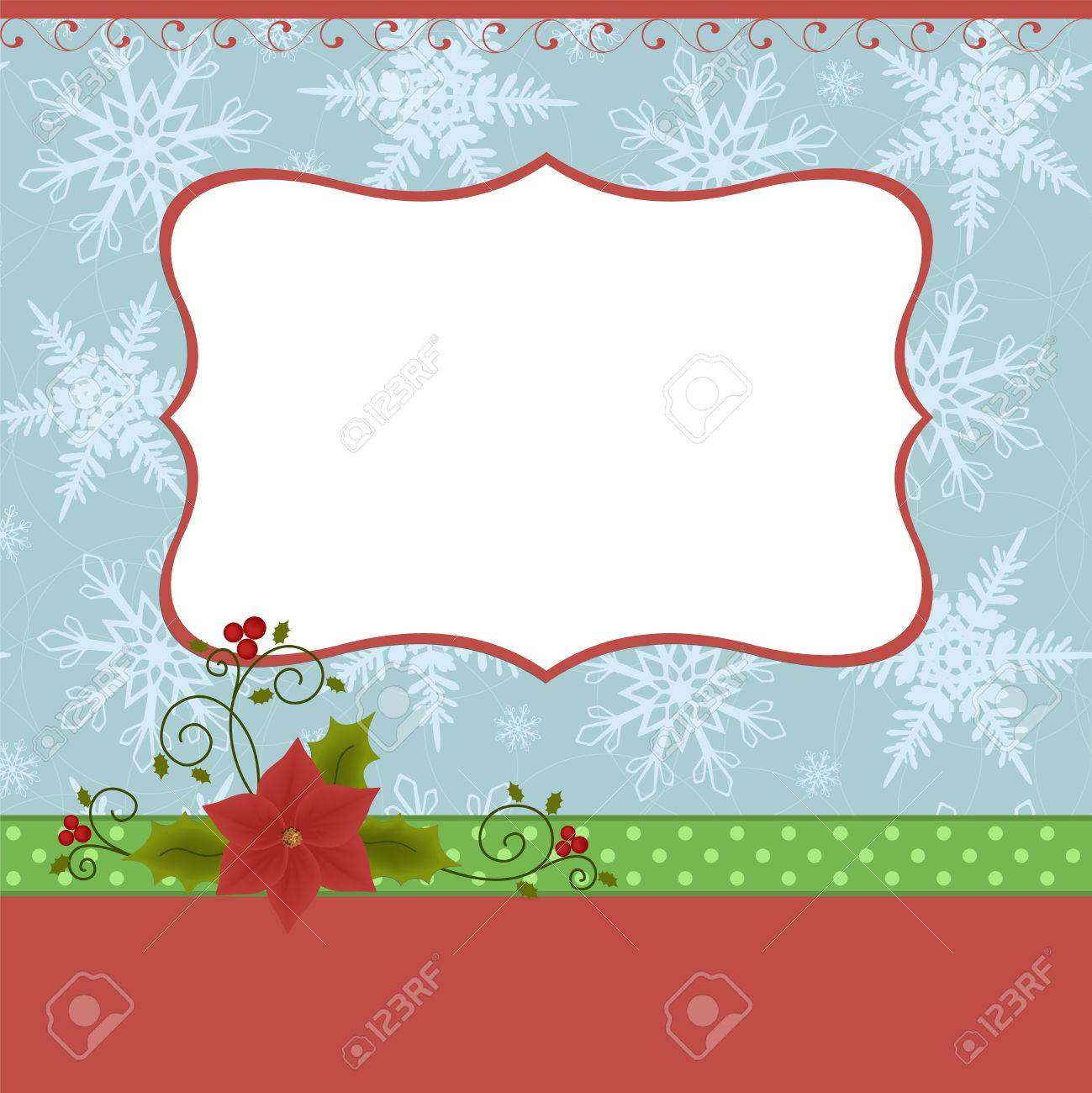 Blank Template For Christmas Greetings Card Postcard Or Photo – Free Blank Greeting Card Templates
