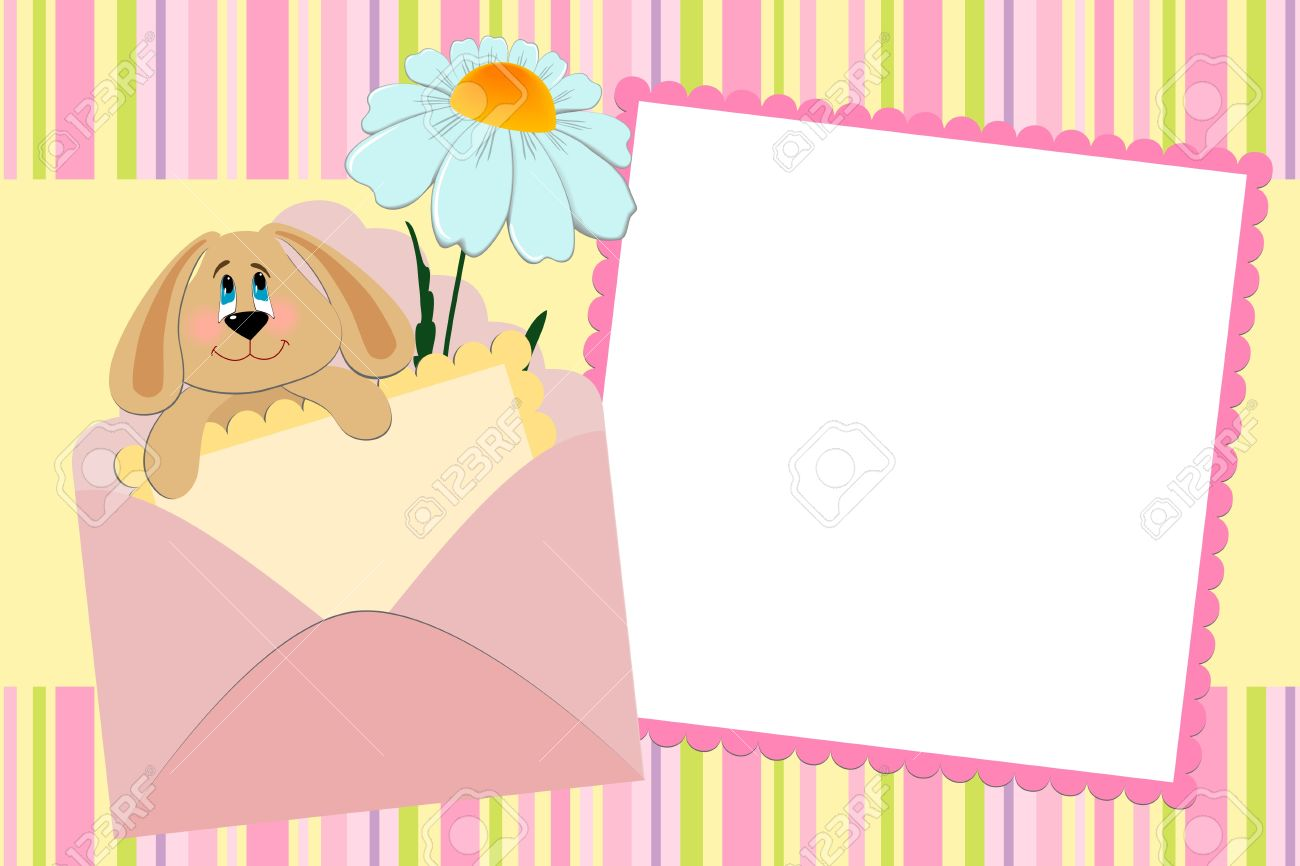 Template for baby's photo album or postcard Stock Vector - 8181326