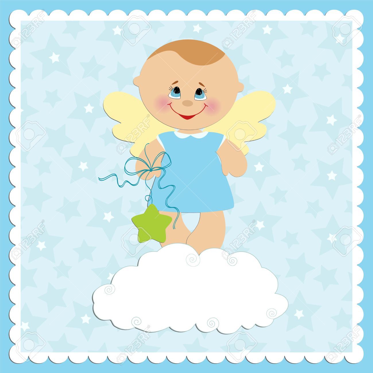 Baby greetings card with angel boy royalty free cliparts vectors baby greetings card with angel boy stock vector 8181327 m4hsunfo