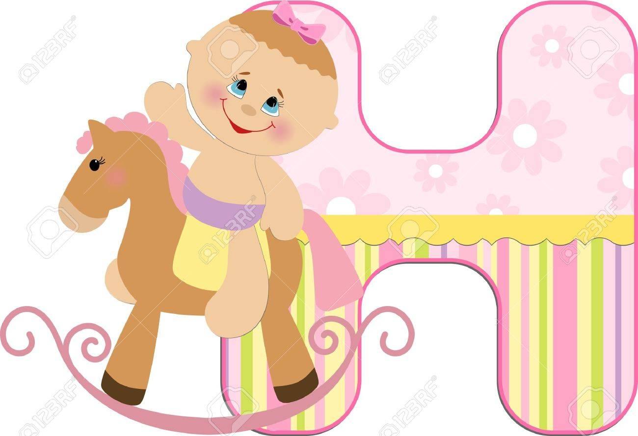 Baby's illustrated ABC alphabet Stock Vector - 8265121