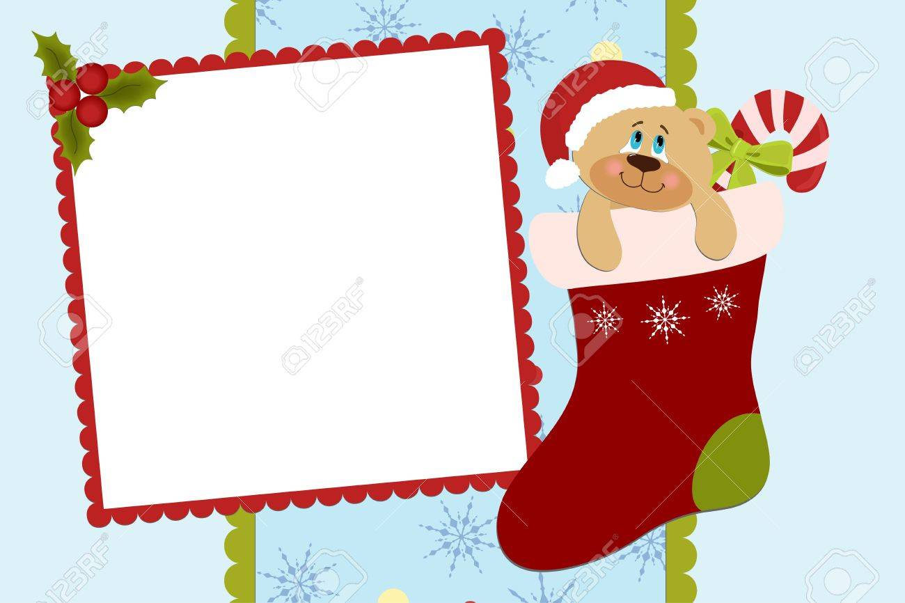 template for baby s xmas photo album or postcard royalty template for baby s xmas photo album or postcard stock vector 8265243
