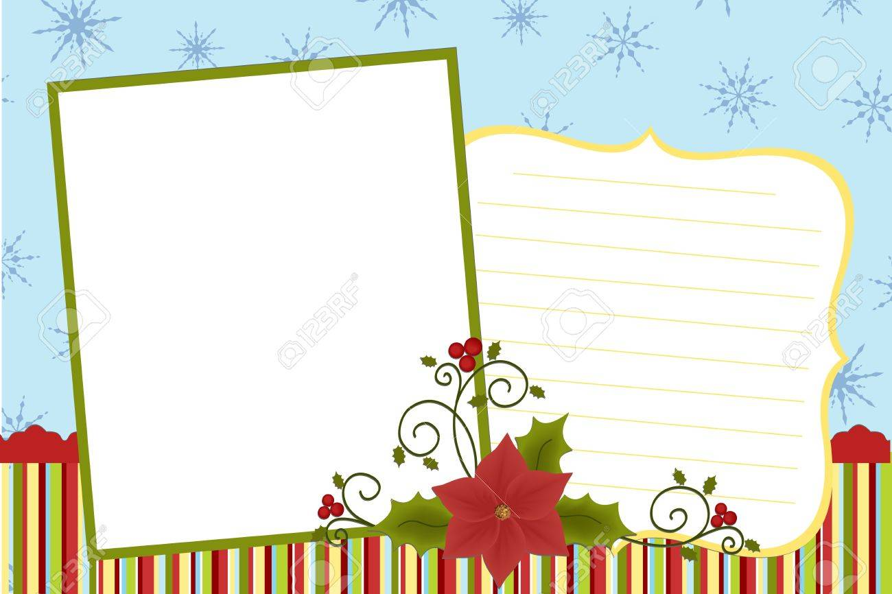 template for baby s xmas photo album or postcard royalty template for baby s xmas photo album or postcard stock vector 8265277