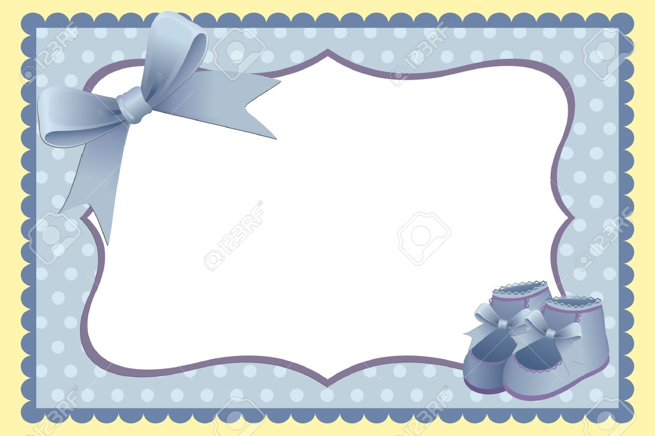 cute template for babys arrival announcement card or photo frame stock vector 9539725