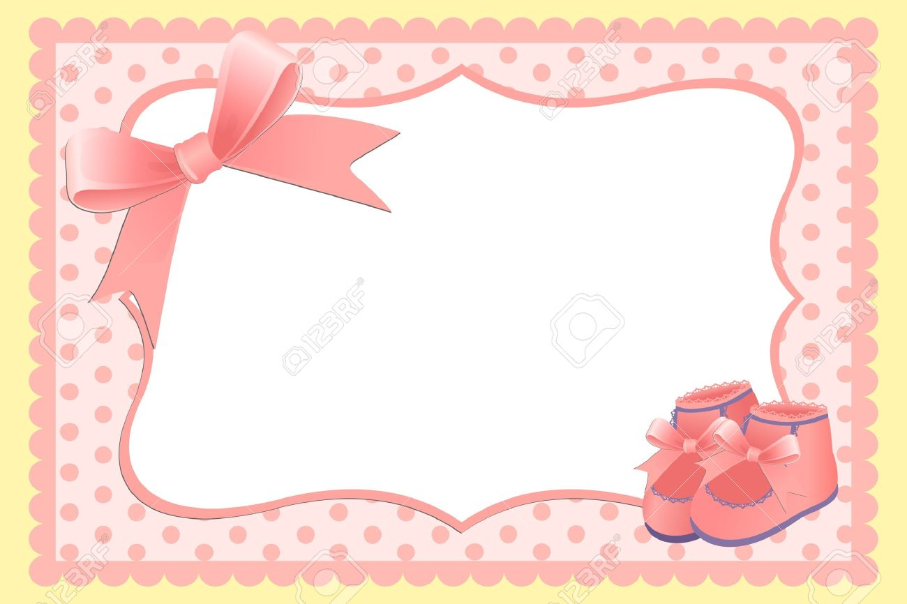 cute template for babys arrival announcement card or photo frame stock vector 9539765