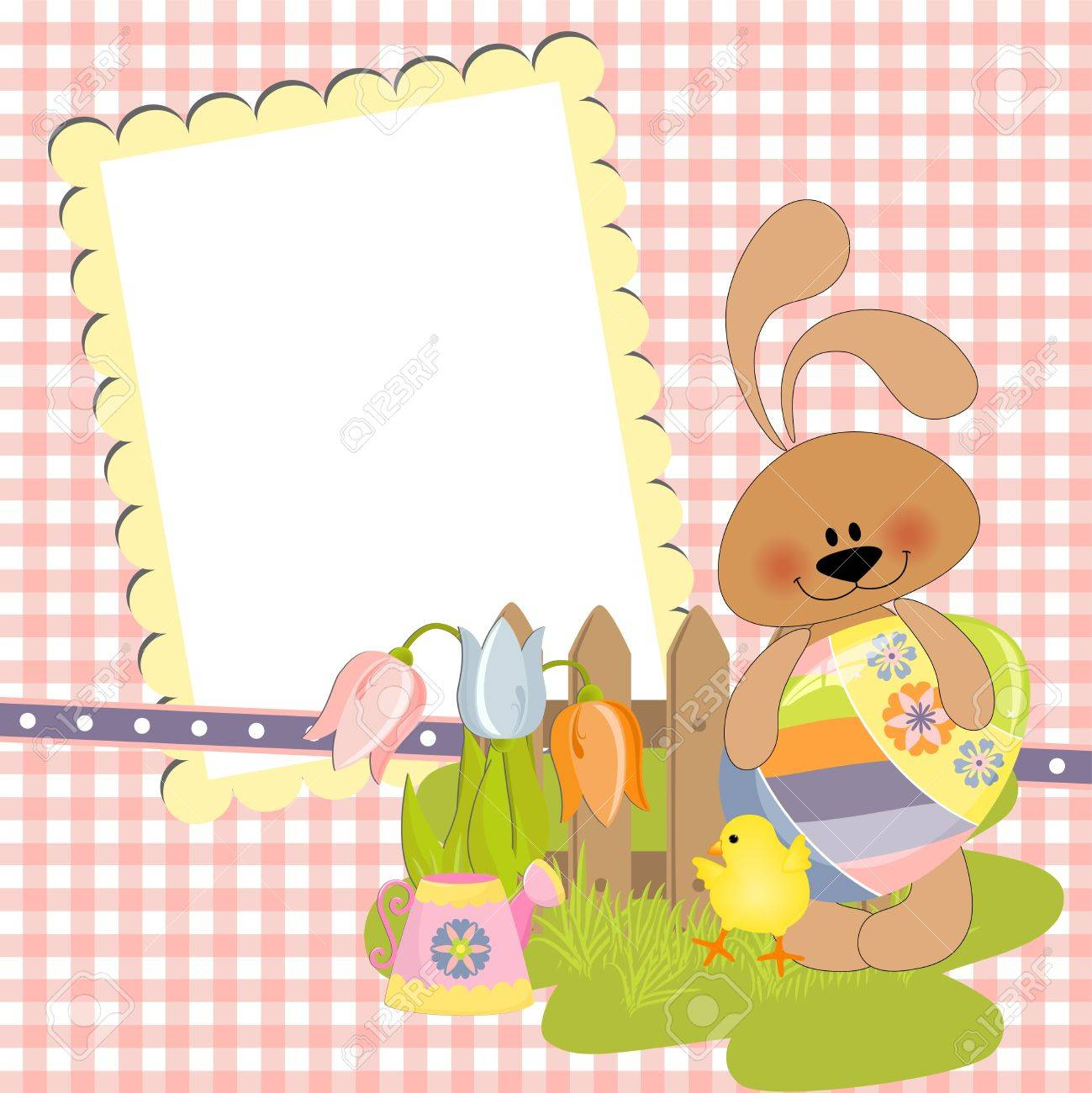 Cute Template For Easter Greetings Card Royalty Free Cliparts – Easter Greeting Card Template