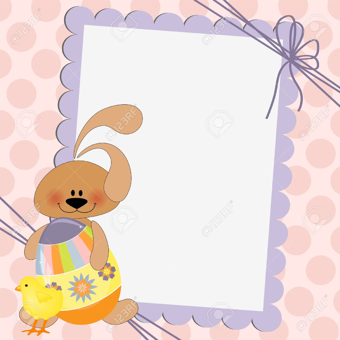 Cute template for Easter greetings card Stock Vector - 9541130