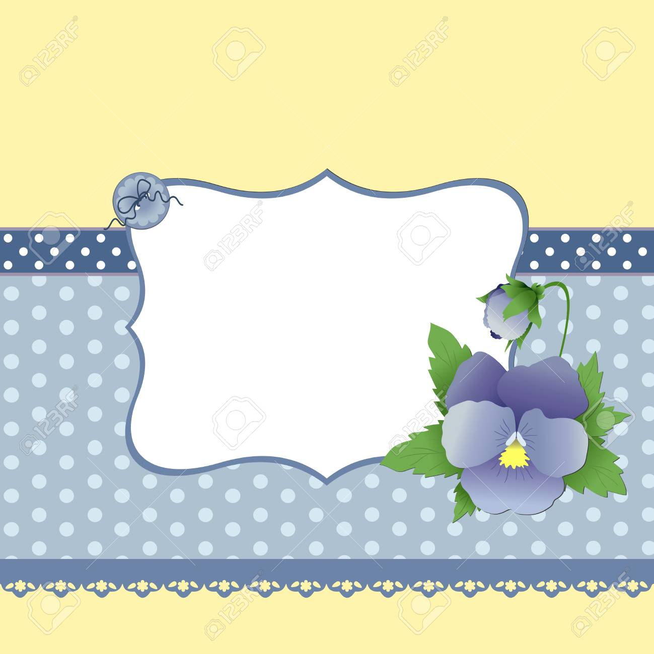 Cute template for Mother's Day greetings card Stock Vector - 9539748