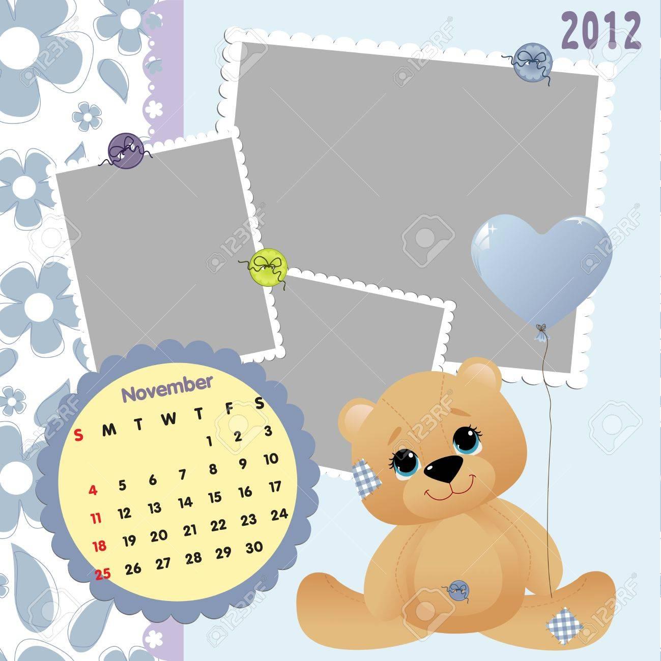 Baby calendar 2012 Stock Vector - 10475112