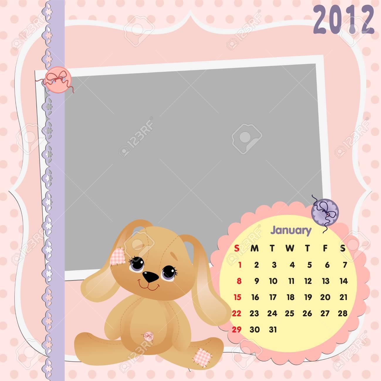 Baby calendar 2012 Stock Vector - 10475072