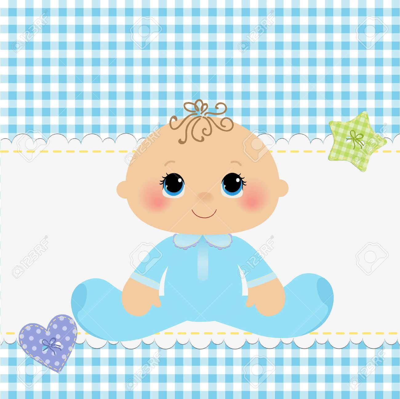 Cute template for baby arrival announcement card - 15028324