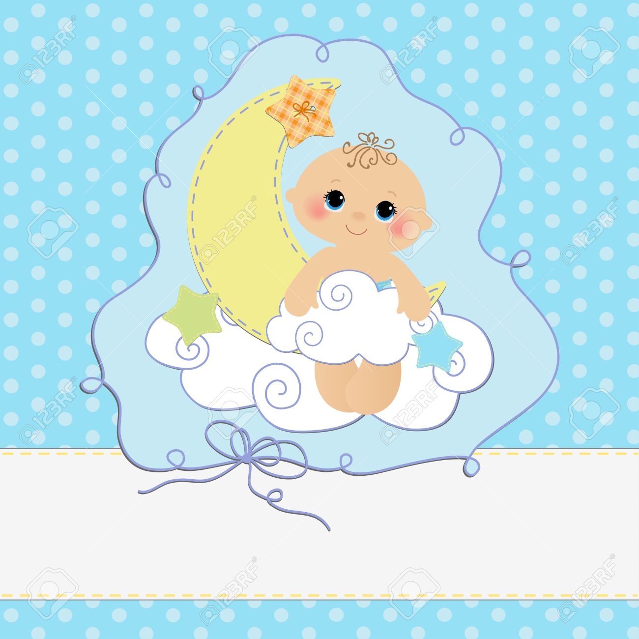 Cute Template For Baby Arrival Announcement Card Royalty Free – Cute Baby Boy Announcements