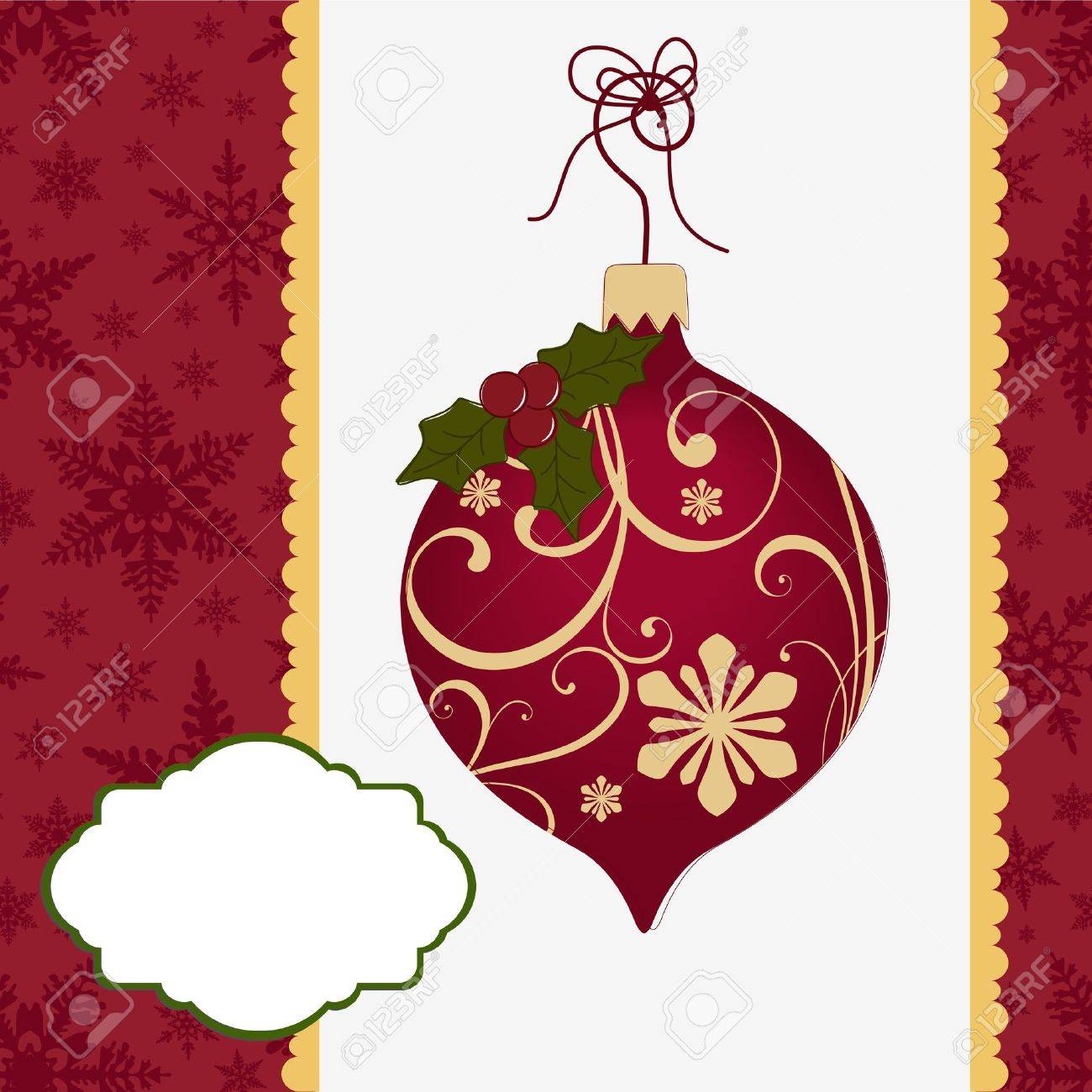 Cute christmas postcard template Stock Vector - 15366913